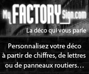 mobilier design, décoration personnalisable,  MyFactorySign